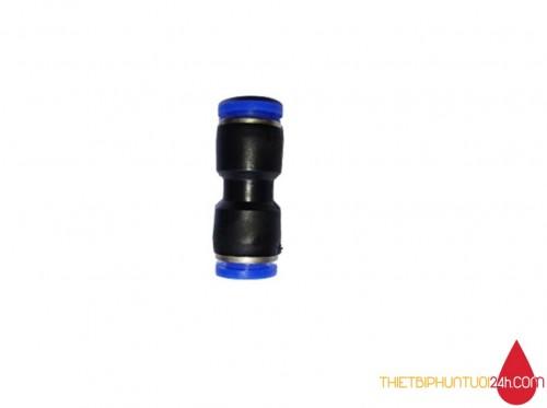 Cút nối thẳng 2 đầu dây 8mm dành cho dây hơi khí nén, phun sương