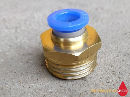 Đầu ren đồng 21 nối ống phun sương 8mm ( 8ly)